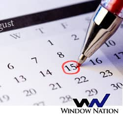 calendar showing august 15 marked