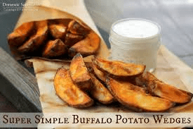 Delicious Buffalo Potato Wedges from GeniusKitchen.com